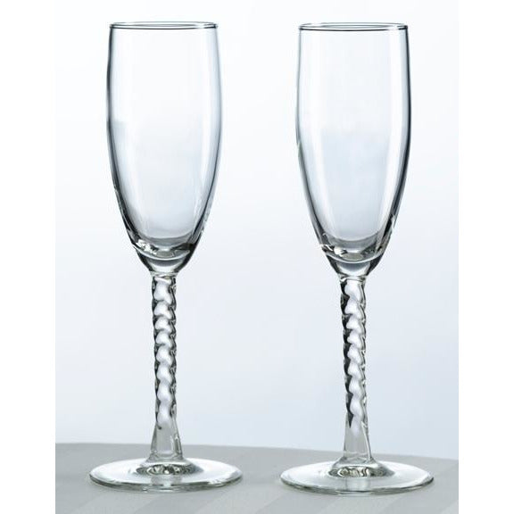 Spun Stem Toasting Glasses