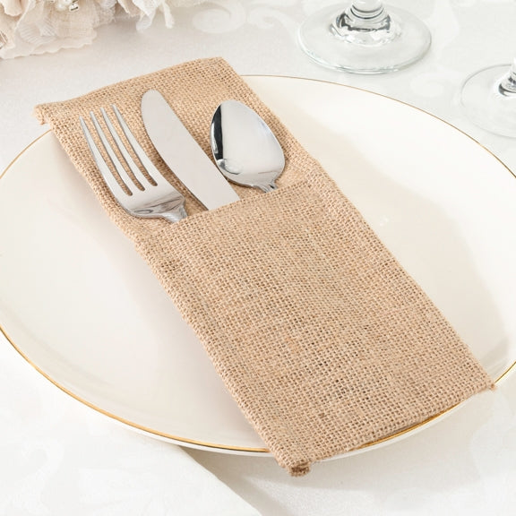 Burlap Silverware Holder (Set of 4)