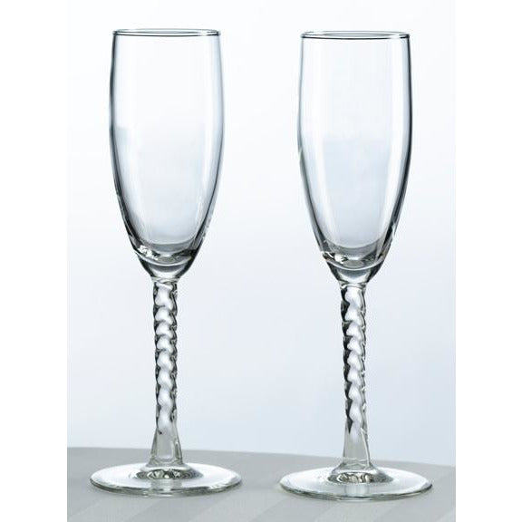 Heart Monogram Toasting Glasses (Set of Two)
