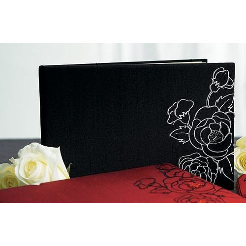 Silhouettes In Bloom Black Guestbook & Pen Set