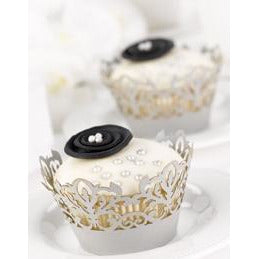 Silver Decorative Cupcake Wraps