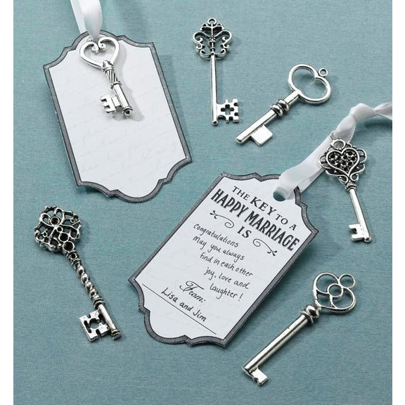 Silver Key Tag Set for Guest Signing