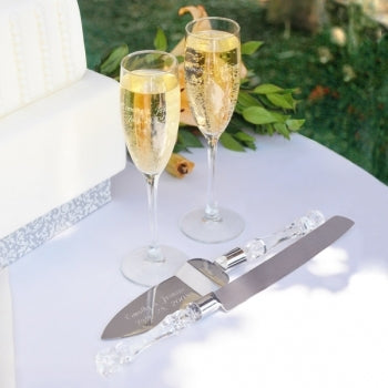 Simplicity Champagne Flutes & Cake Server Set - Save 10%