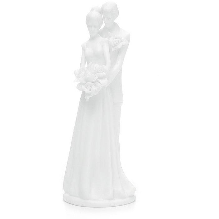 Small Contemporary Bride and Groom Traditional Wedding Cake topper