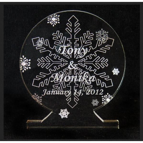 Snowflake II Light-Up Wedding Cake Topper
