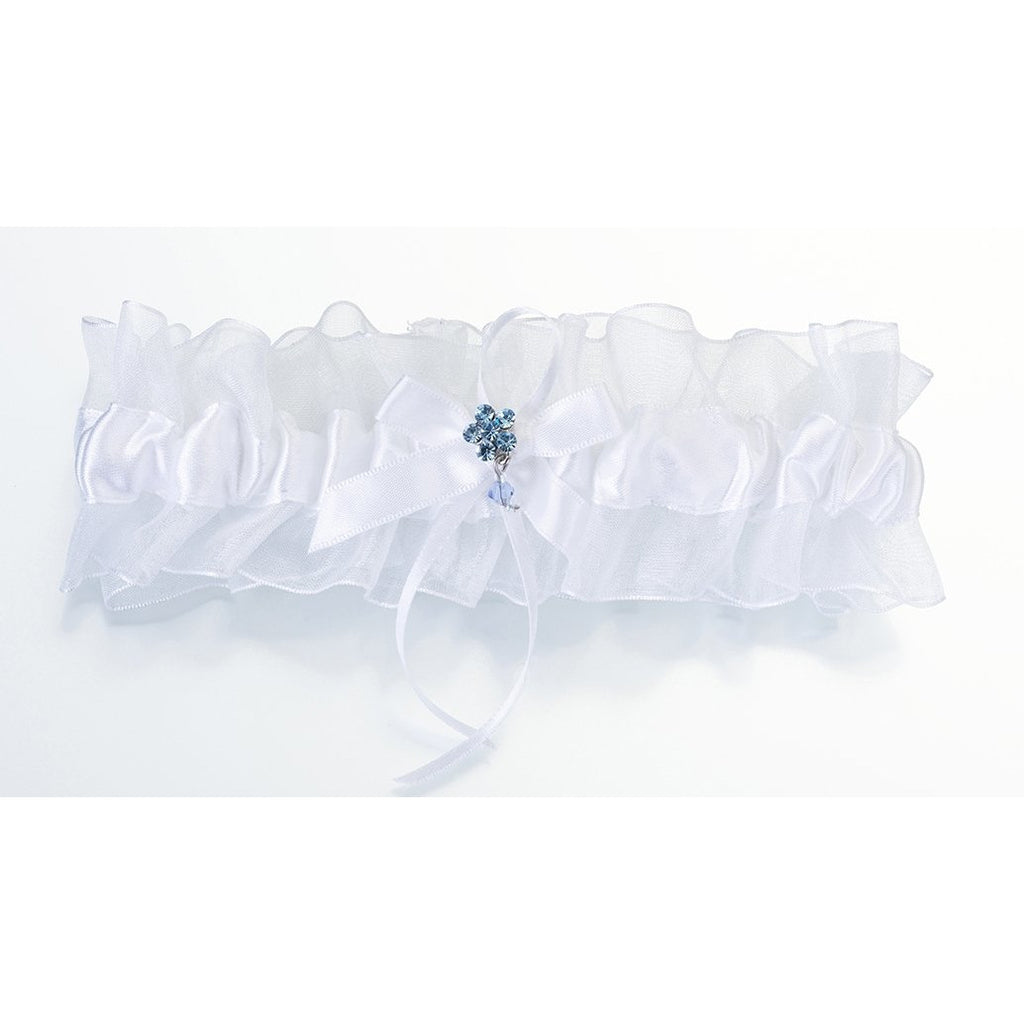 Something Blue Garter - White