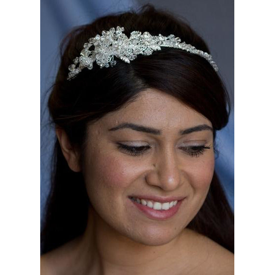 Spring Delight Crystal Flower Headband