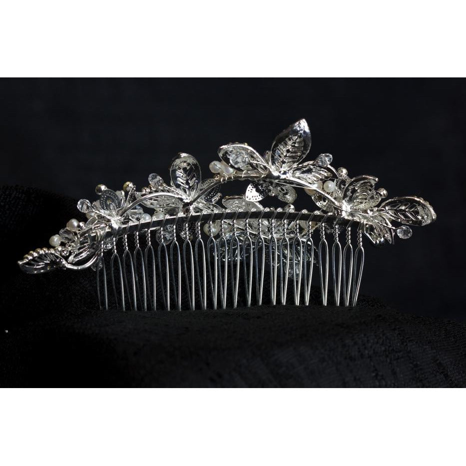 Spring Time Crystal Flower Comb