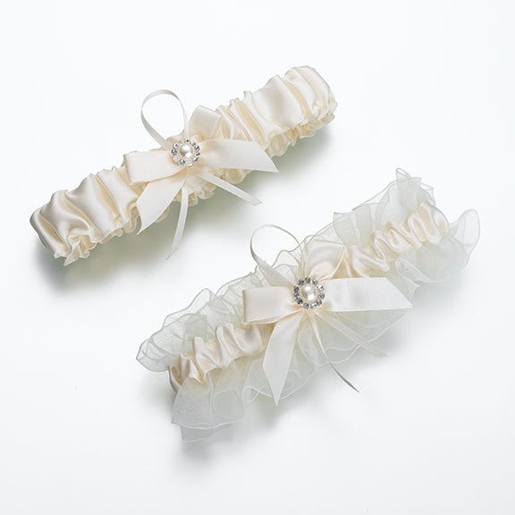 St/2 Ivory Pearl Garters