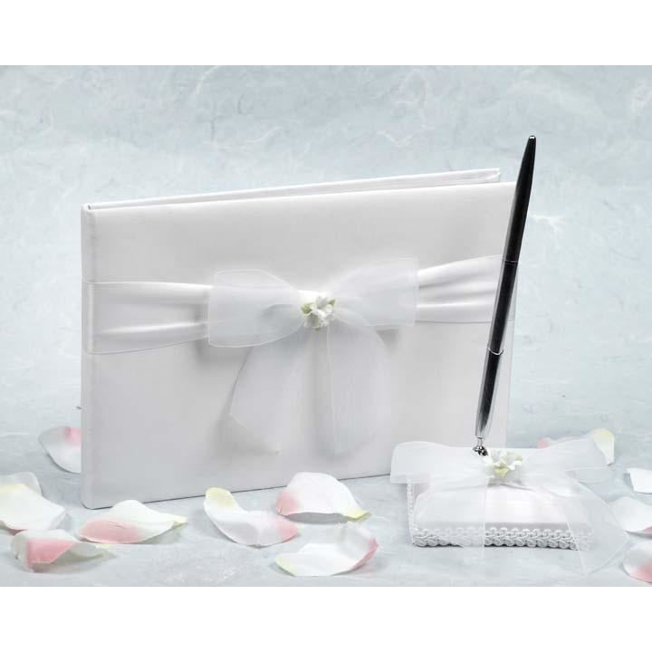 Stephanotis Wedding Guestbook and Pen Set