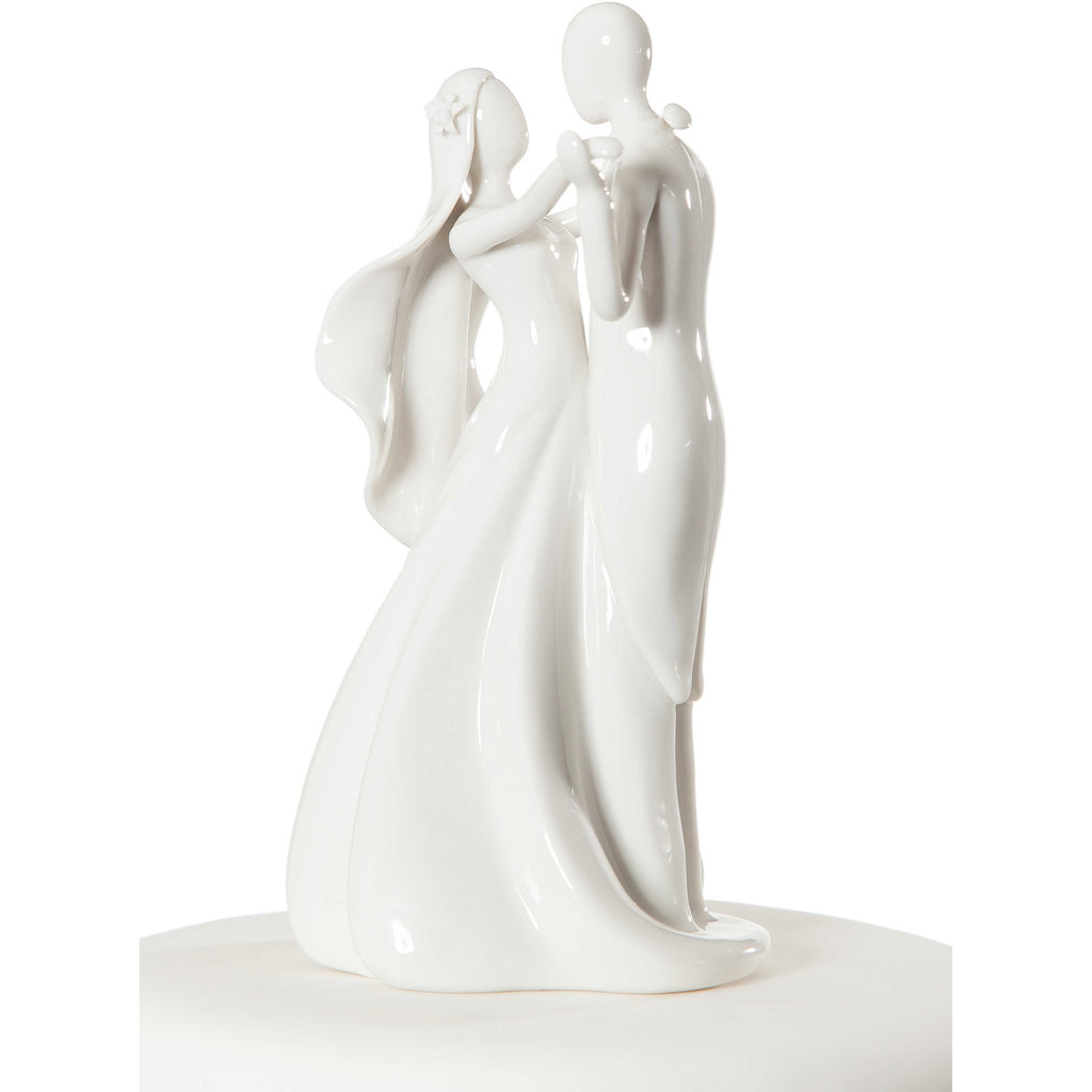 Stylized Bride and Groom Figurine