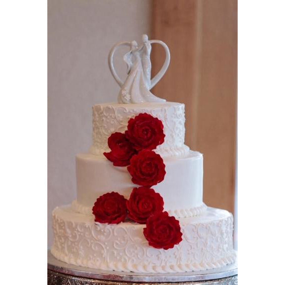 Stylized Dancing Wedding Cake Topper