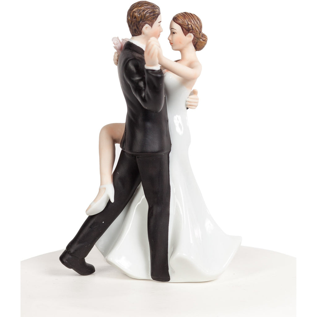 Funny Super Sexy Dancing Wedding Bride and Groom Cake Topper Figurine