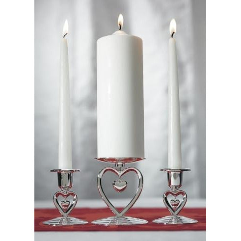 Suspended Heart Candle Holder Set
