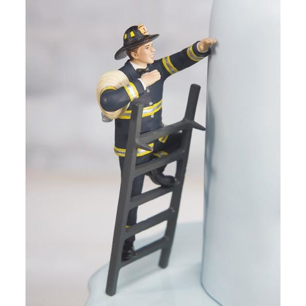 """To the Rescue!"" Fireman Groom Figurine"