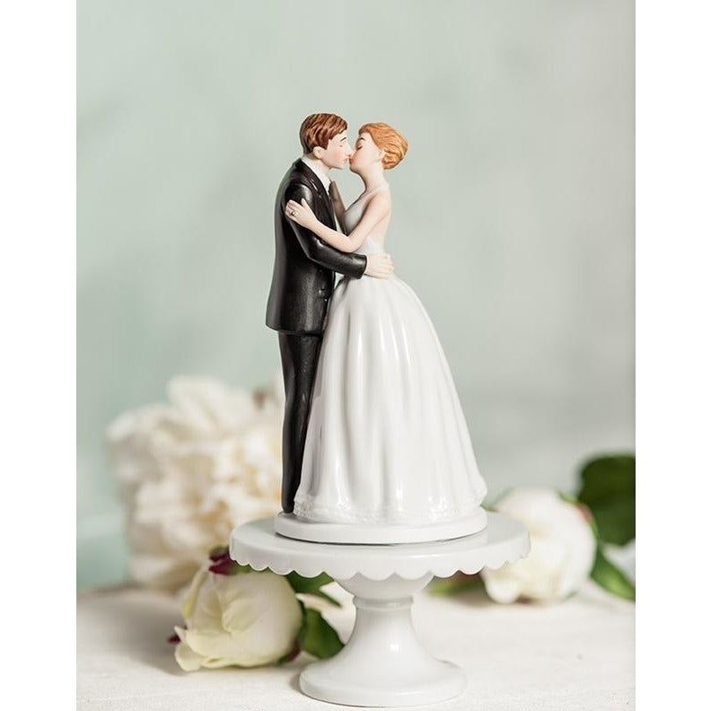 """Romance"" Kissing Couple Wedding Cake Topper"