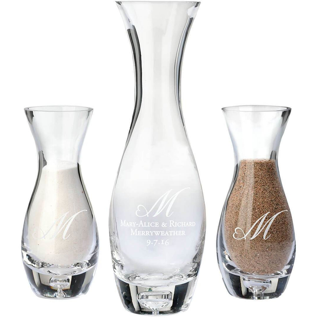 Together Forever Unity Vase Sand Set-Heart Monogram