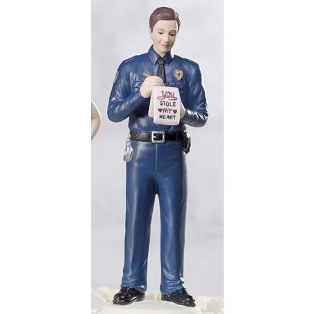 Policeman Groom Figurine Mix & Match Cake Toppers