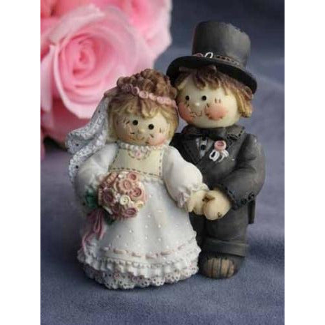 Cute as a Button Sew Special Wedding Cake Topper