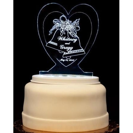 Wedding Bells Light-Up Wedding Cake Topper