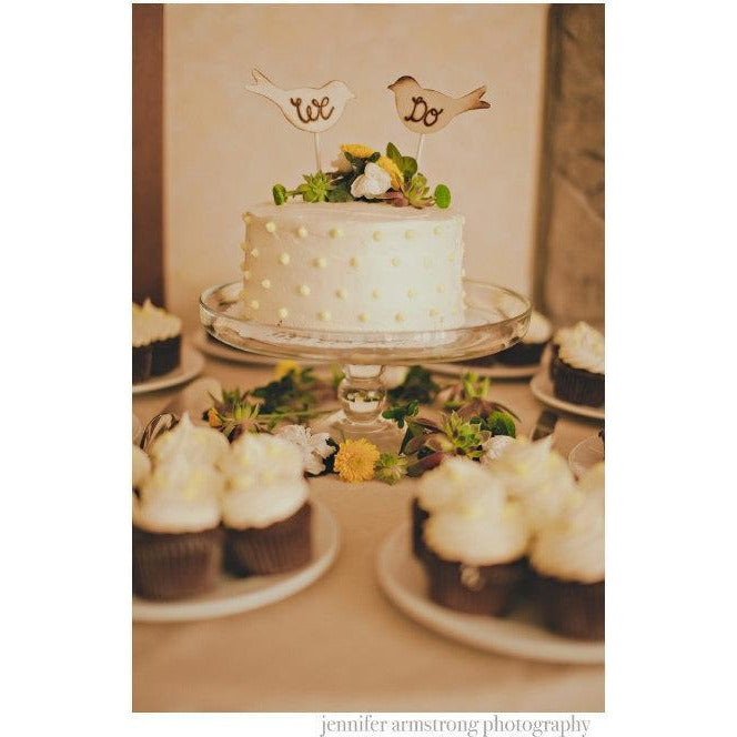 Wedding Cake Topper Rustic Hand Engraved Love Birds