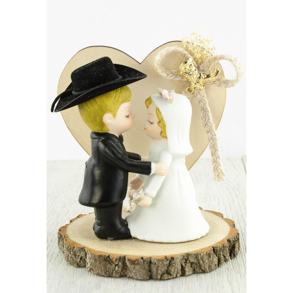 Western Cowboy Wedding Cake Topper
