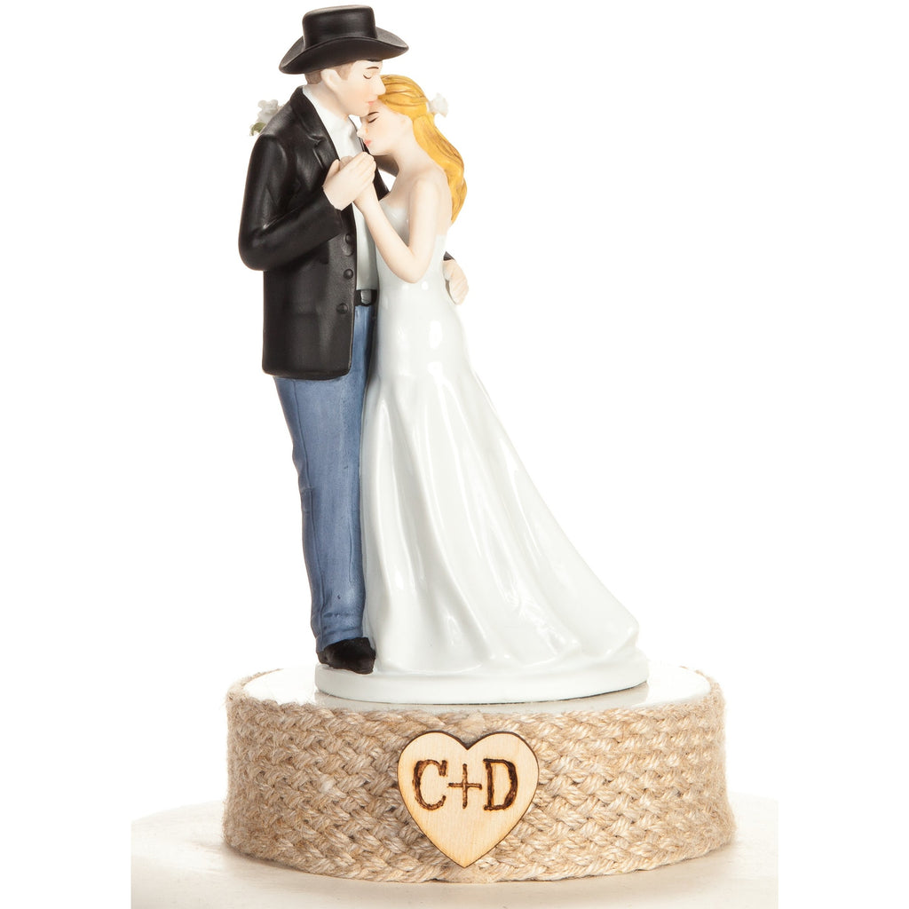 Personalized Western Bride and Groom Wedding Cake Topper