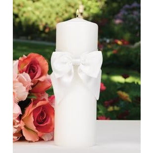 White Classic Beauty Unity Candle