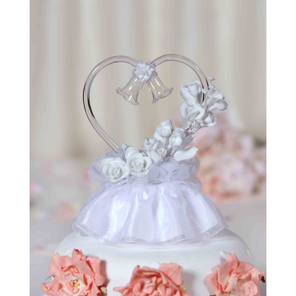 White Porcelain Rose Cake Topper