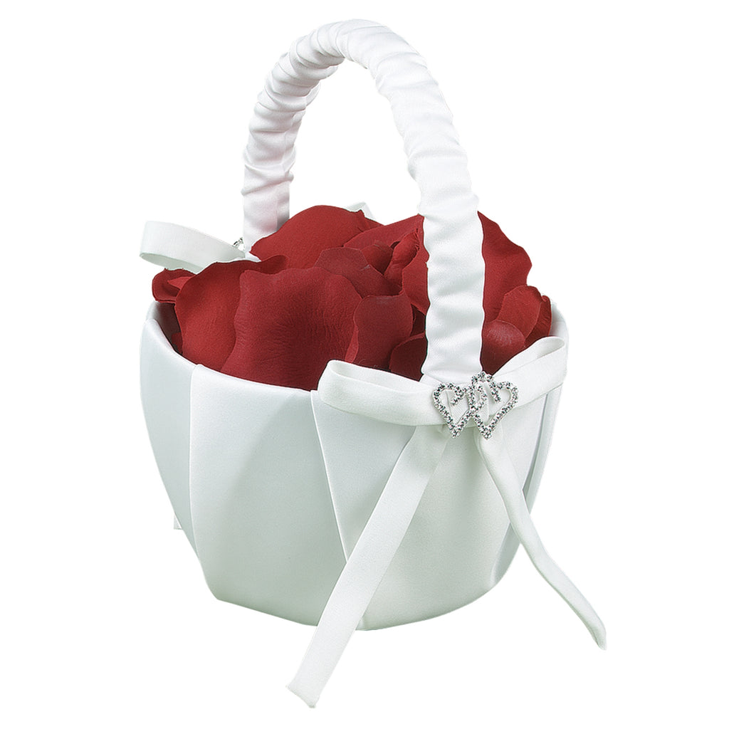 White With All My Heart Basket