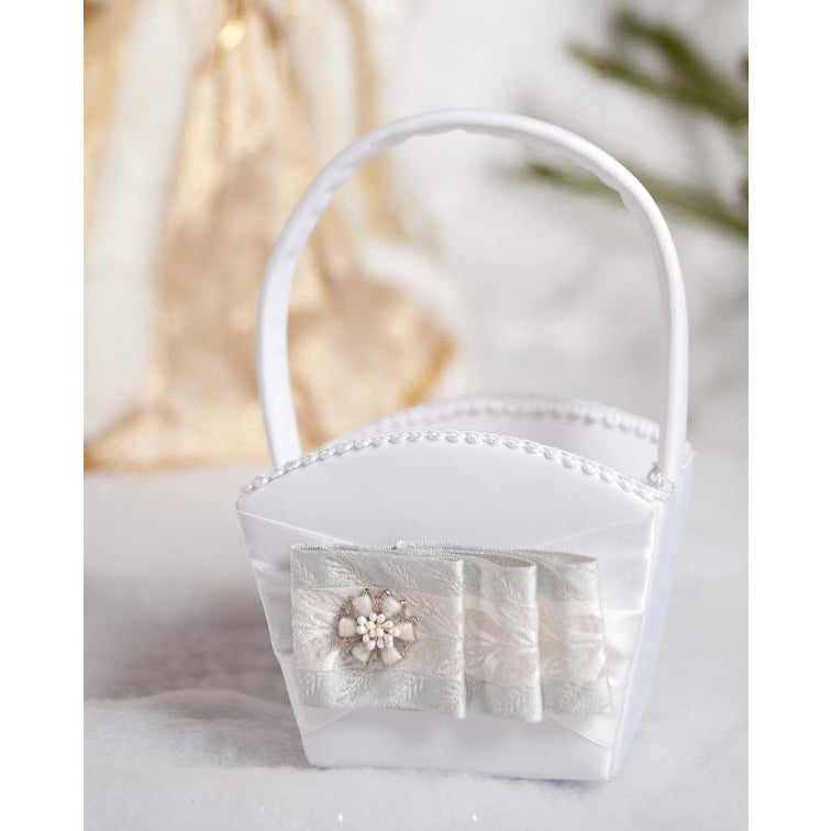 Winter Woodland Wedding Flower Girl Basket