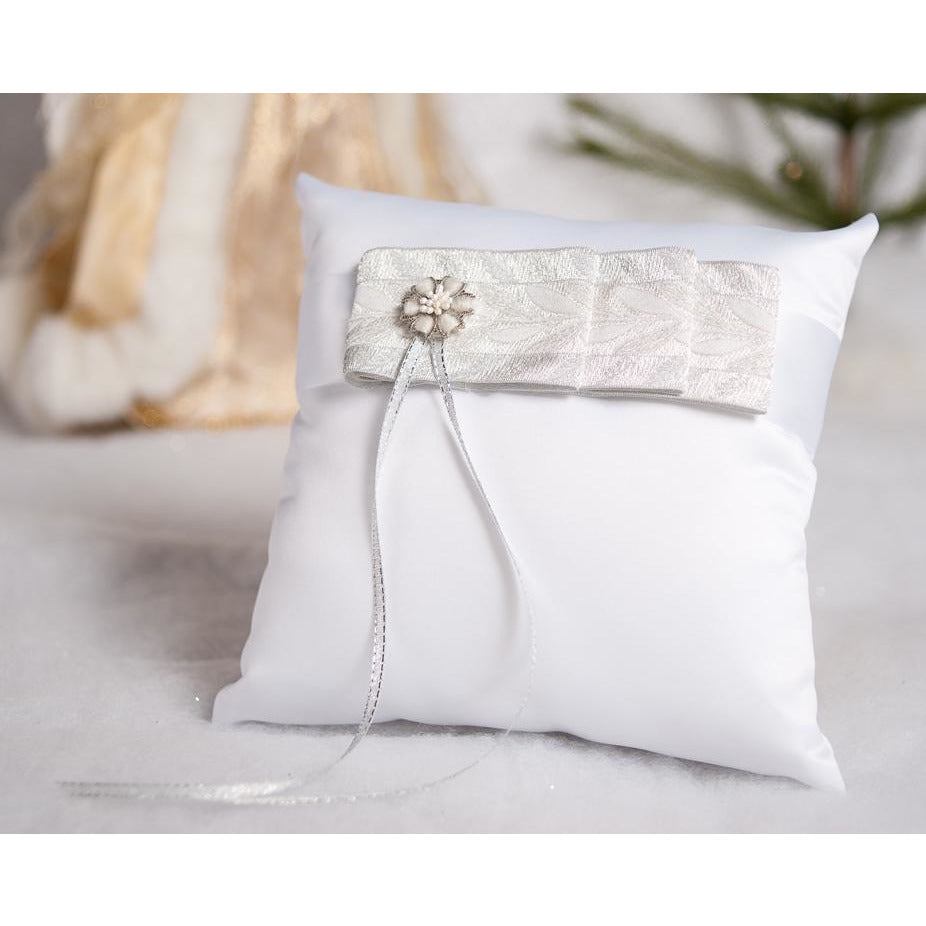 Winter Woodland Wedding Ring Pillow