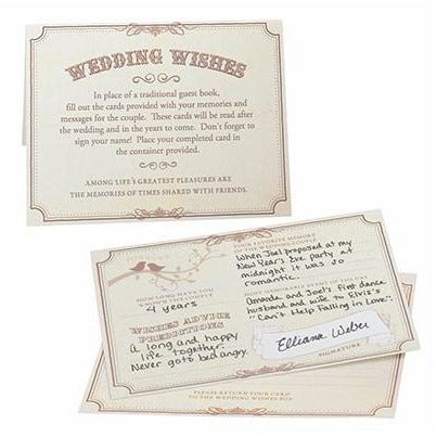 Wishes Cards Tan (Set of 48)