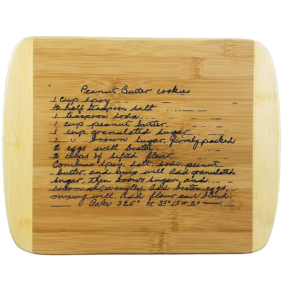 Wooden Recipe Cutting Board (Thick) Custom, Hand-Written Engraved, Serving Tray | Meat, Vegetables, Cheese | Personalized Housewarming Gift