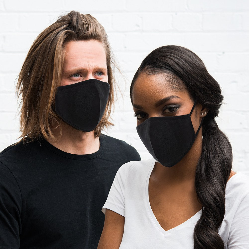 Black Protective Cloth Face Mask