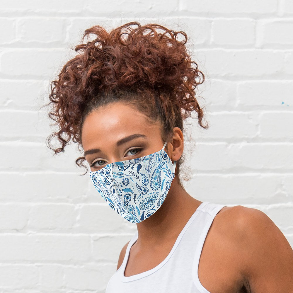 Paisley Print Protective Cloth Face Mask