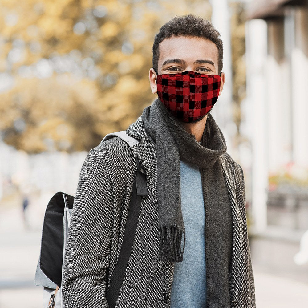 Buffalo Plaid Print Protective Cloth Face Mask