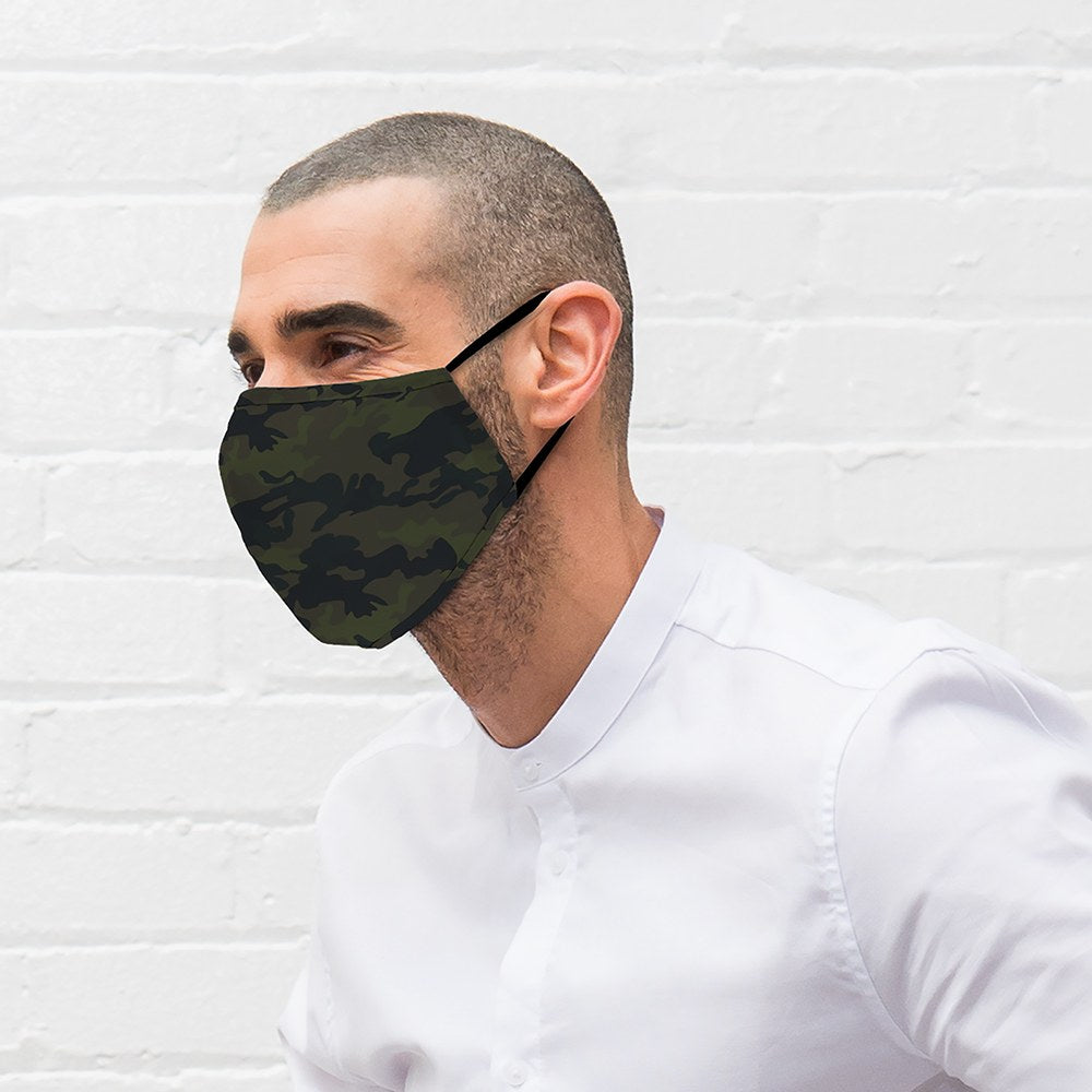 Camo Print Protective Cloth Face Mask