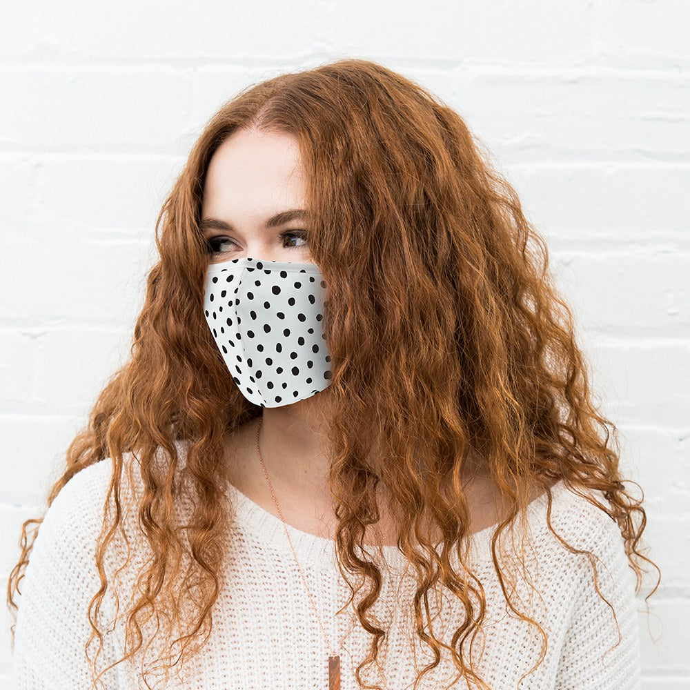 Dot Print Protective Cloth Face Mask