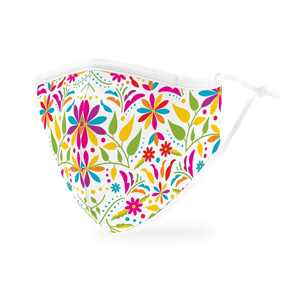 Fiesta Floral Print Protective Cloth Face Mask