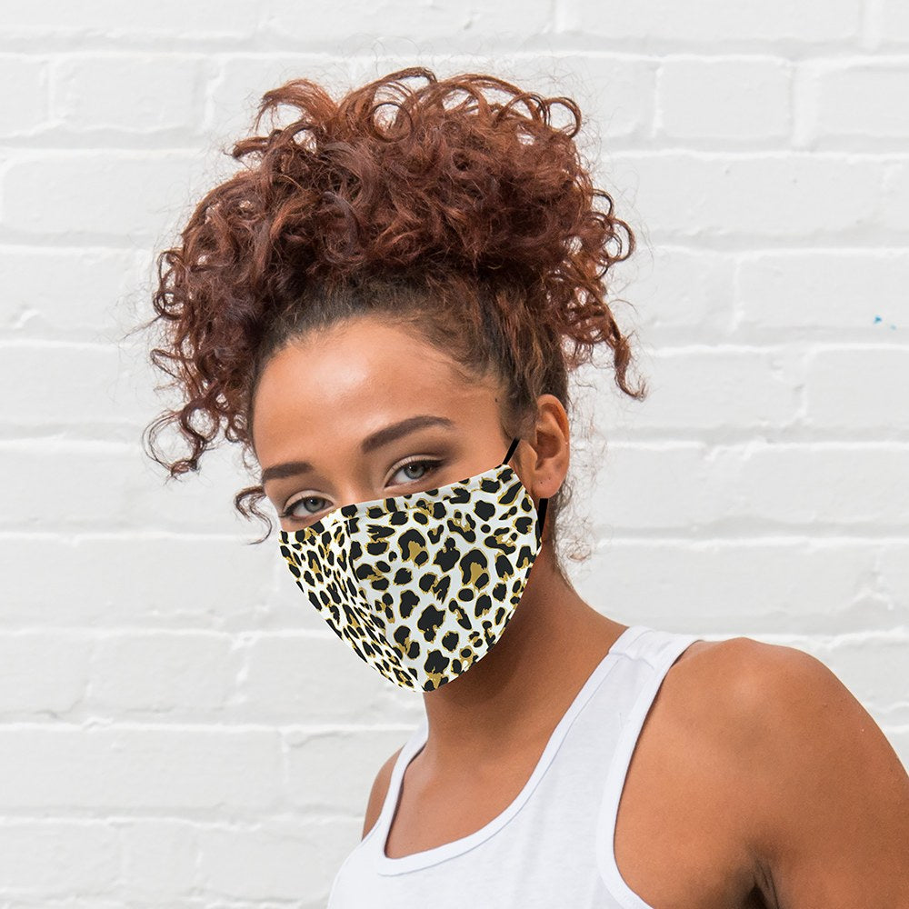 Leopard Print Protective Cloth Face Mask