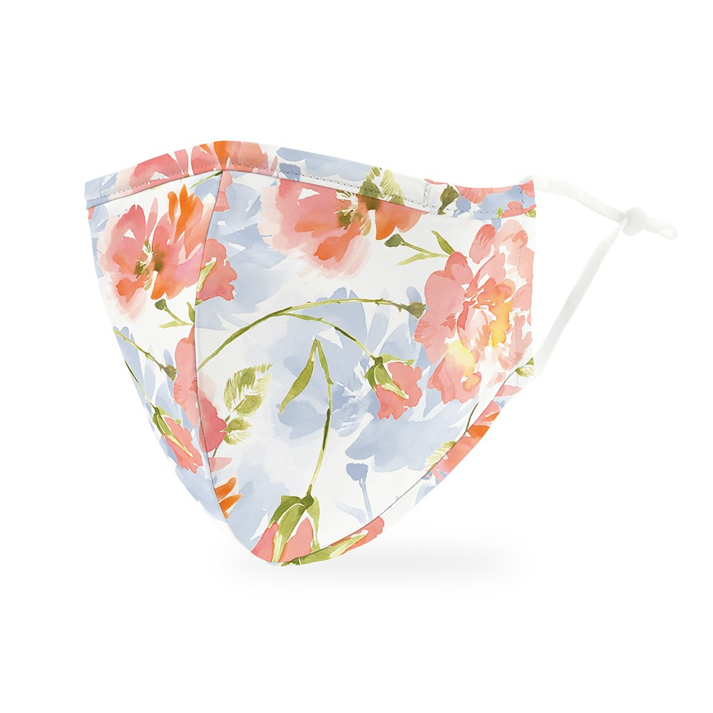 Pastel Floral Print Protective Cloth Face Mask
