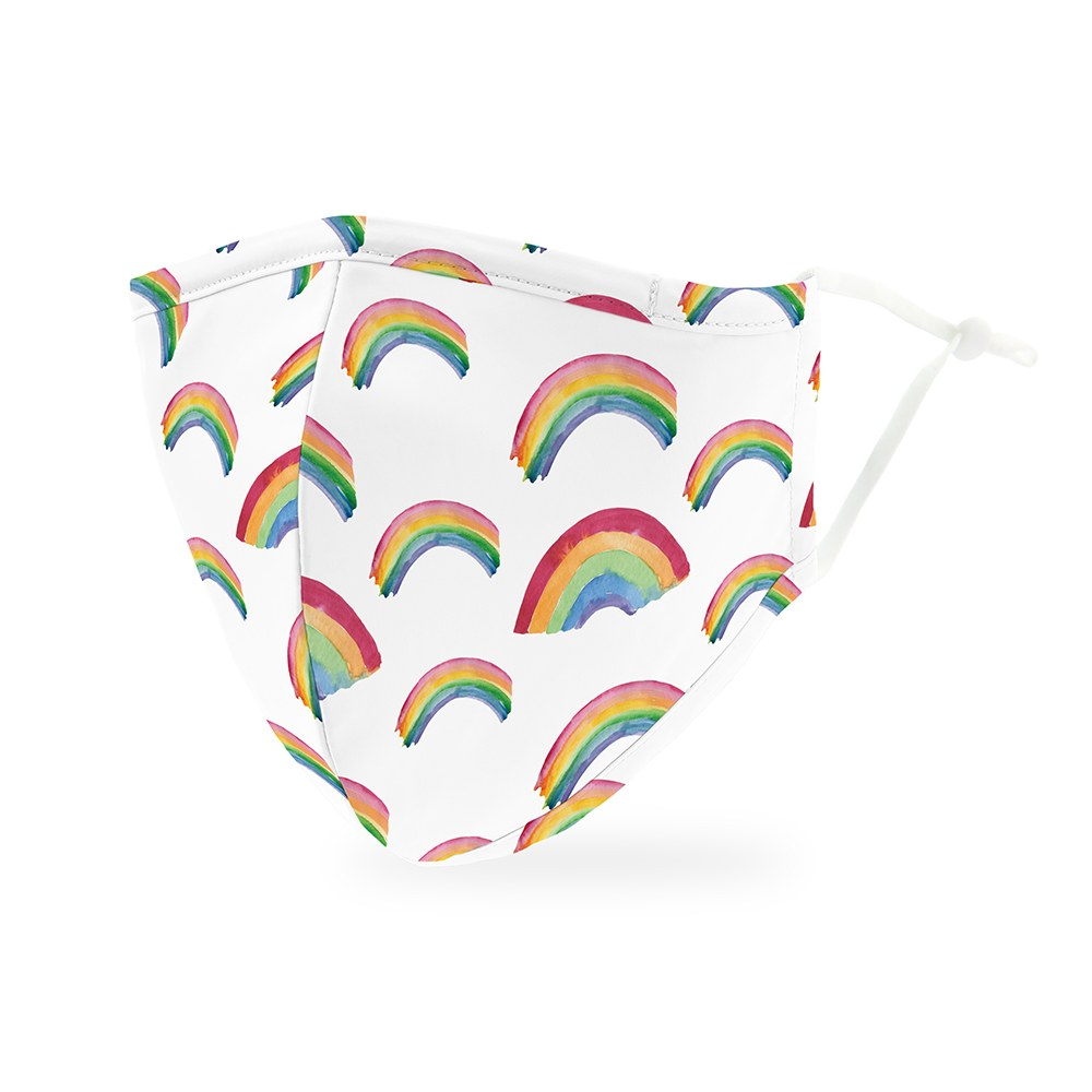 Rainbow Print Protective Cloth Face Mask