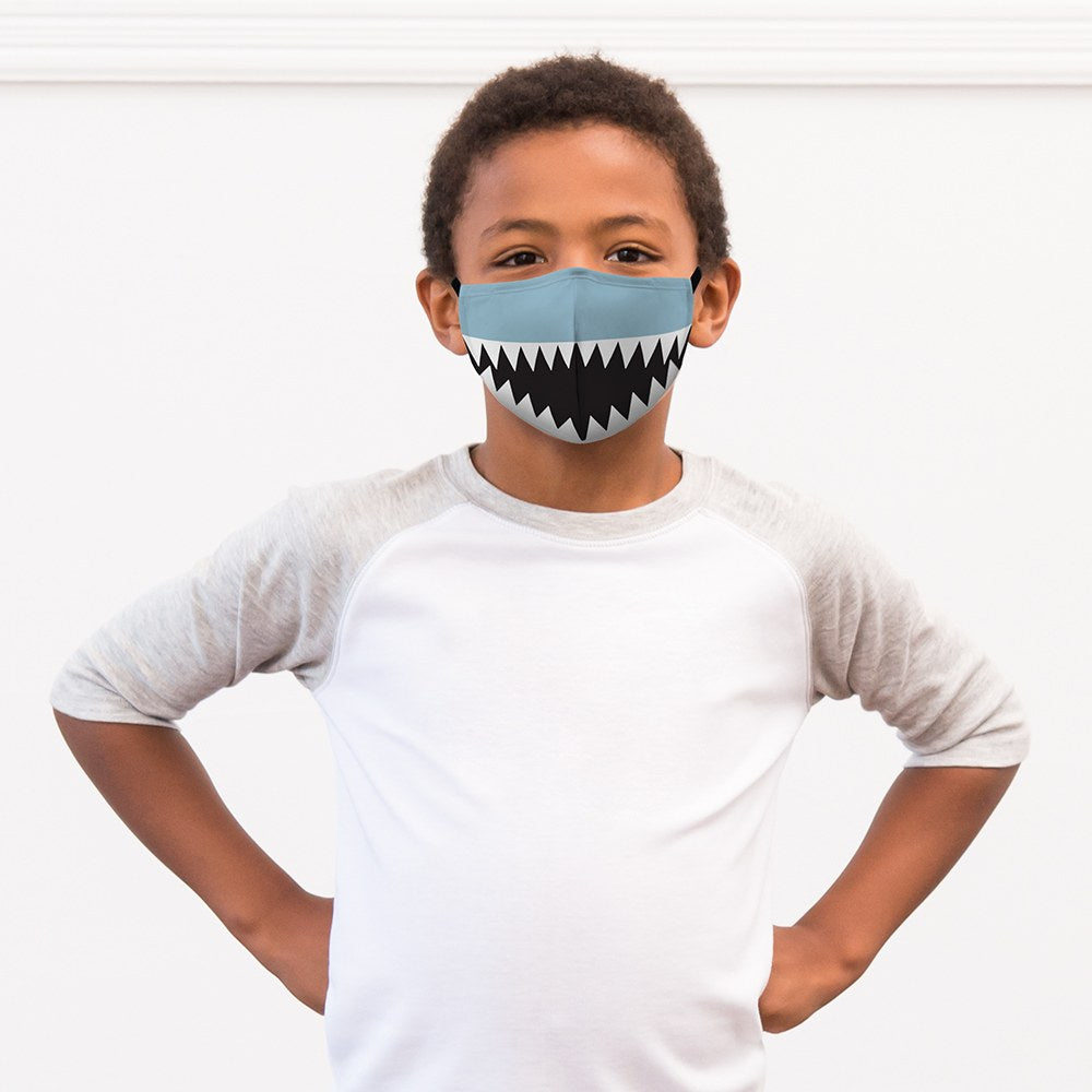 Shark Print Kids Protective Cloth Face Mask