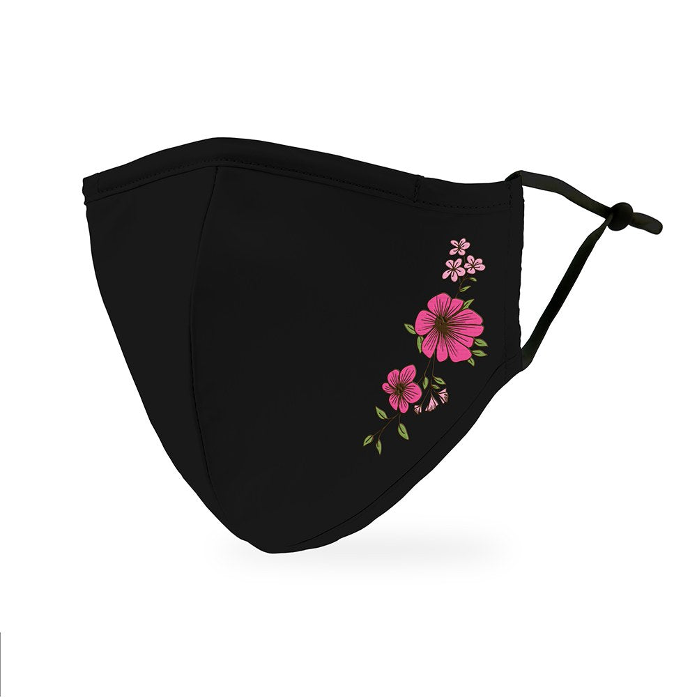 Simple Floral Print Protective Cloth Face Mask