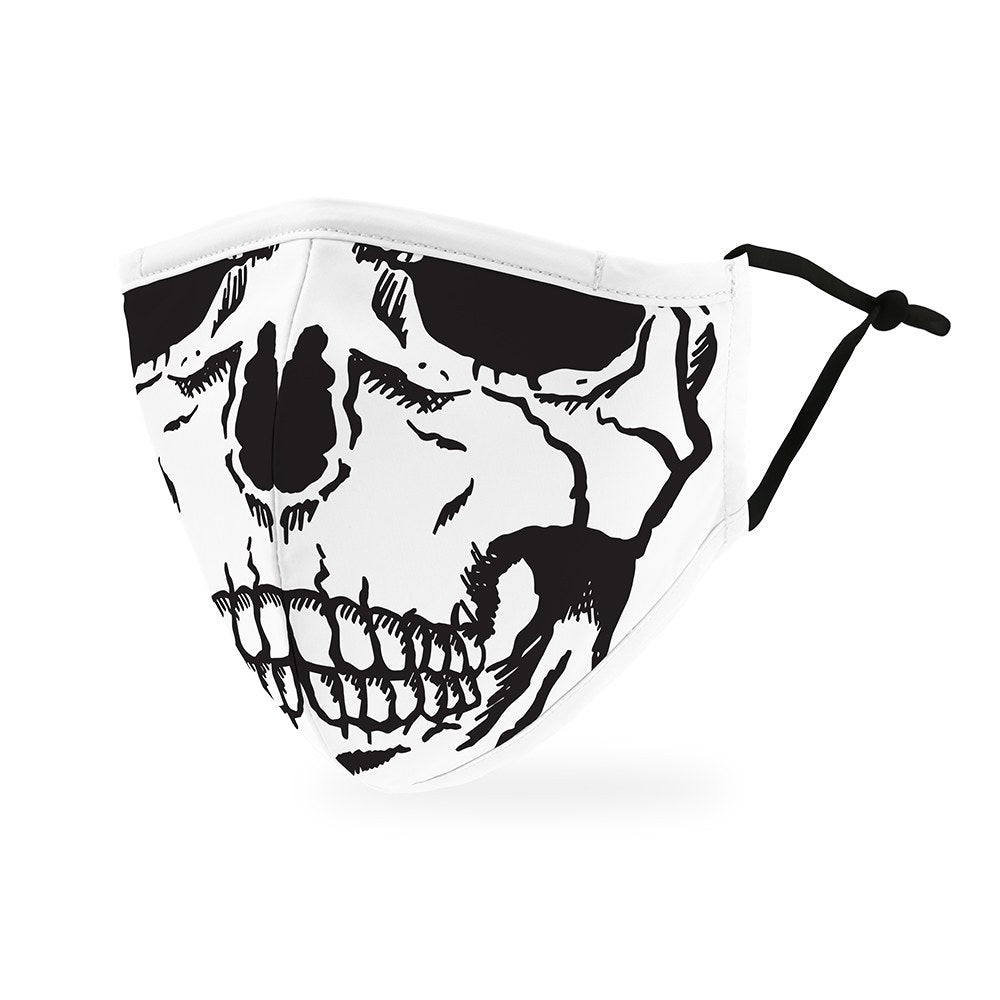 Skull Print Protective Cloth Face Mask