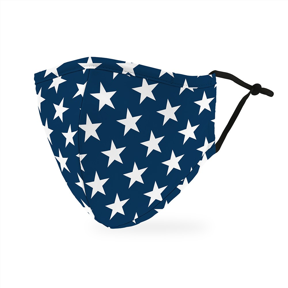 Star Spangled Print Protective Cloth Face Mask