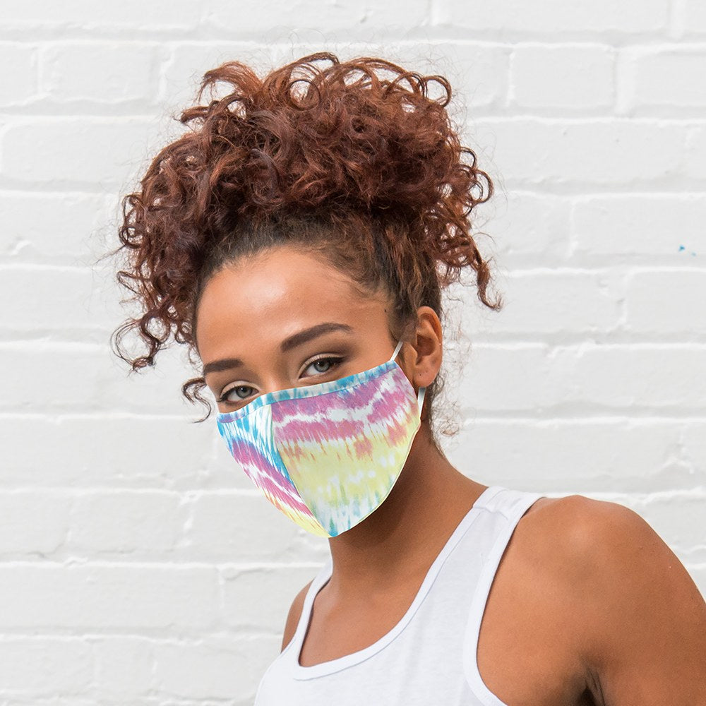 Tie Dye Print Protective Cloth Face Mask