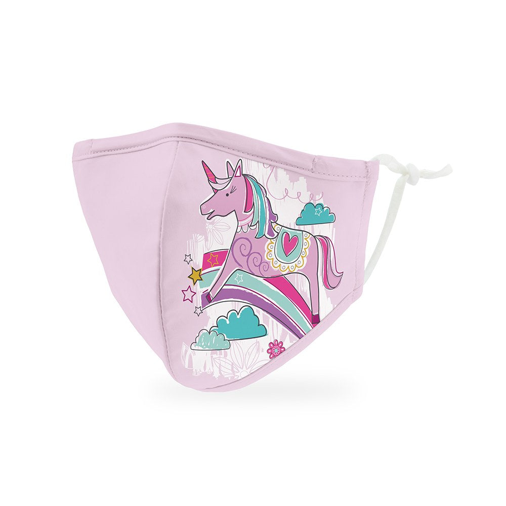 Unicorn Print Kids Protective Cloth Face Mask