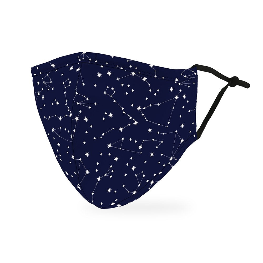 Zodiac Stars Print Protective Cloth Face Mask